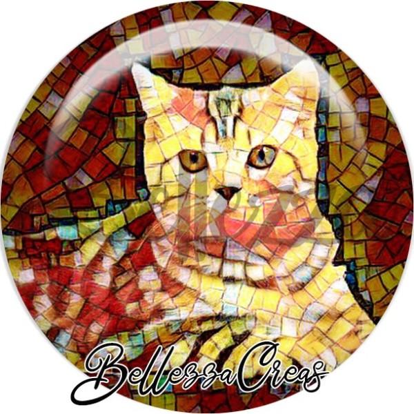 Cabochon, chat, divers, animaux, plusieurs tailles disponibles - Photo n°1