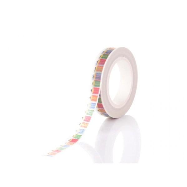 Rouleau De 10m Ruban cache Crayons Multicolores 8mm - Photo n°1
