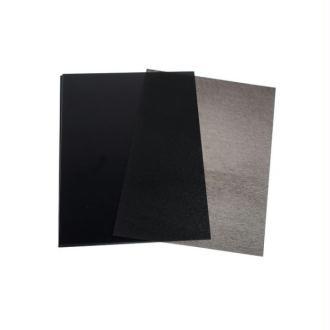 3 Feuilles Plastique Dingue Noires 29x20cm