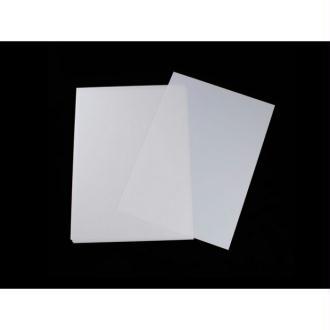 3 Feuilles Plastique Dingue Blanches 29x20cm