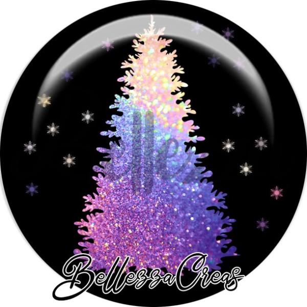 Cabochon, sapin de Noël, Noël, évènement, plusieurs tailles disponibles - Photo n°1