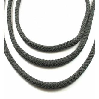 Corde Tressée Diamètre 5mm, Gris Foncé, Au Mètre