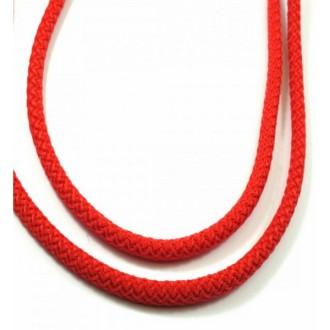 Corde Tressée Diamètre 5mm, Rouge, Au Mètre