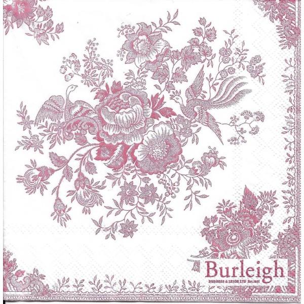 4 Serviettes en papier Asie Faisan Fleurs Format Lunch L-533210 IHR Decoupage Decopatch - Photo n°2