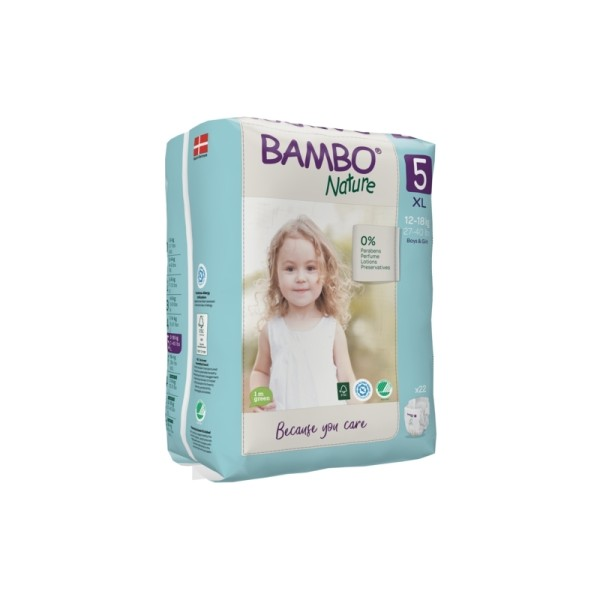 Couches Bambo Nature Junior T5 - 12/18 kg - 1 paquet - Photo n°1