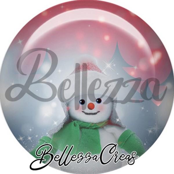 Cabochon, bonhomme de neige,Noël, évènement, plusieurs tailles disponibles - Photo n°1