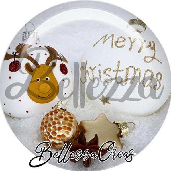 Cabochon, renne, merry christmas,Noël, évènement, plusieurs tailles disponibles - Photo n°1