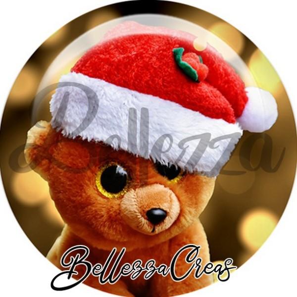 Cabochon, ours de noël,Noël, évènement, plusieurs tailles disponibles - Photo n°1