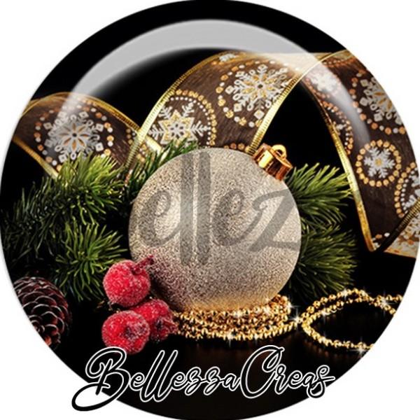 Cabochon, boule déco sapin,Noël, évènement, plusieurs tailles disponibles - Photo n°1