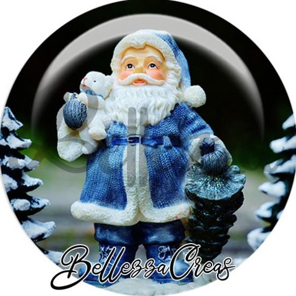 Cabochon, père noël déco sapin,Noël, évènement, plusieurs tailles disponibles - Photo n°1