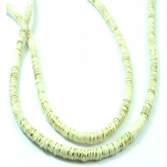Corde Tressée Torsadée Blanc Or 5mm, Au Mètre