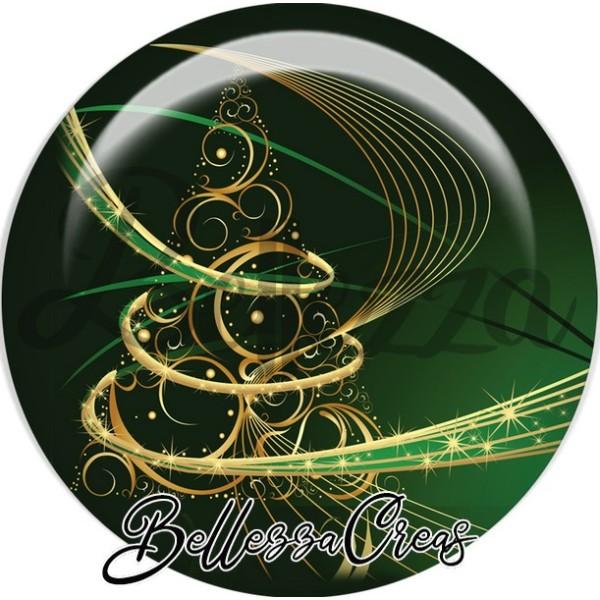 Cabochon, sapin or noël,Noël, évènement, plusieurs tailles disponibles - Photo n°1