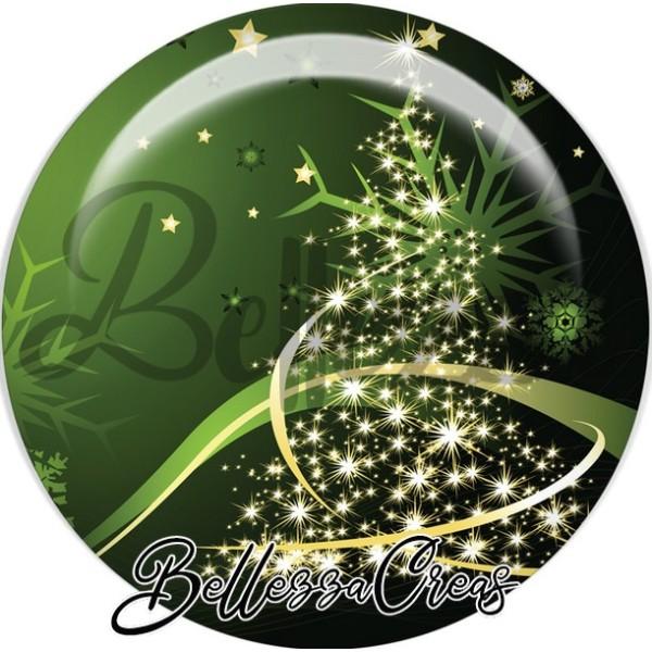 Cabochon, sapin étoilé or noël,Noël, évènement, plusieurs tailles disponibles - Photo n°1