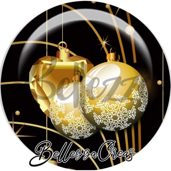 Cabochon, boules or noël,Noël, évènement, plusieurs tailles disponibles - Photo n°1
