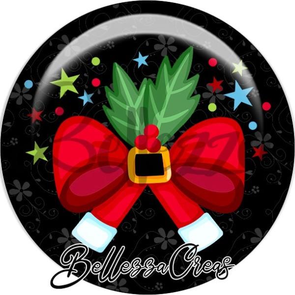 Cabochon, noeux, houx, étoiles,Noël, évènement, plusieurs tailles disponibles - Photo n°1