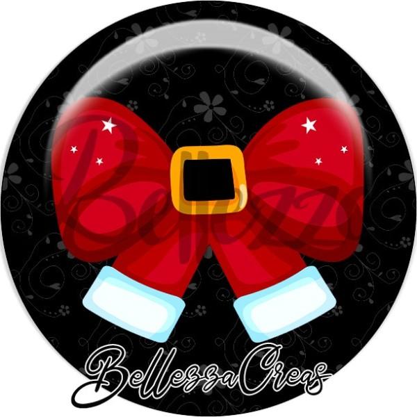 Cabochon, noeud rouge boucle or,Noël, évènement, plusieurs tailles disponibles - Photo n°1