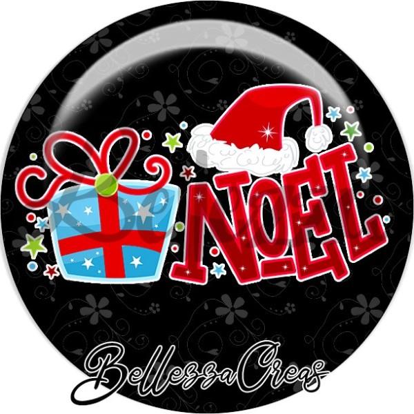 Cabochon, cadeau, bonnet, noël,Noël, évènement, plusieurs tailles disponibles - Photo n°1