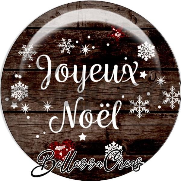 Cabochon, joyeux noël,Noël, évènement, plusieurs tailles disponibles - Photo n°1