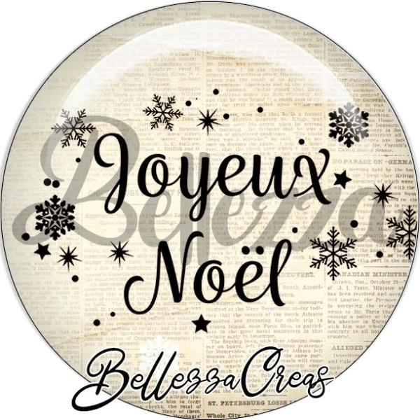 Cabochon, joyeux noël, flocon,Noël, évènement, plusieurs tailles disponibles - Photo n°1