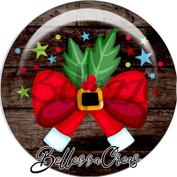 Cabochon, noeud, houx, étoiles, boules,Noël, évènement, plusieurs tailles disponibles - Photo n°1