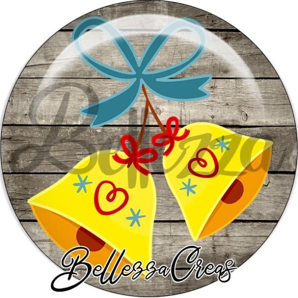 Cabochon, boule, cloche,Noël, évènement, plusieurs tailles disponibles - Photo n°1