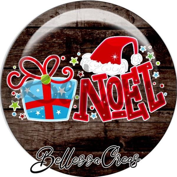 Cabochon, cadeau noël, bonnet père-noël,Noël, évènement, plusieurs tailles disponibles - Photo n°1