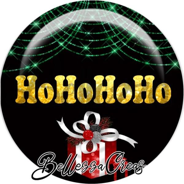 Cabochon, cadeau, hohohoho,Noël, évènement, plusieurs tailles disponibles - Photo n°1