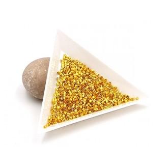 1000 Perles à écraser Tubes Dorées 1.5mm