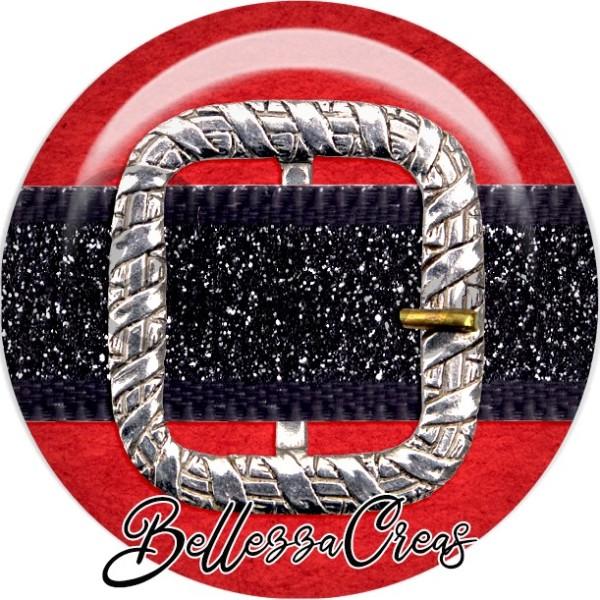 Cabochon, ceinture, boucle de ceinture,Noël, évènement, plusieurs tailles disponibles - Photo n°1