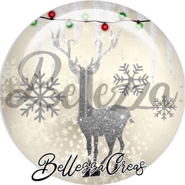 Cabochon, renne, flocons,Noël, évènement, plusieurs tailles disponibles - Photo n°1
