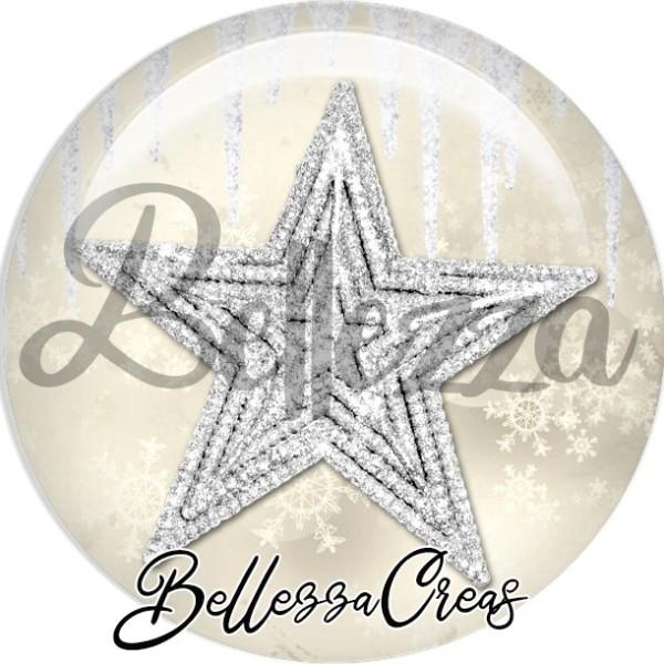 Cabochon, étoile scintillante,Noël, évènement, plusieurs tailles disponibles - Photo n°1