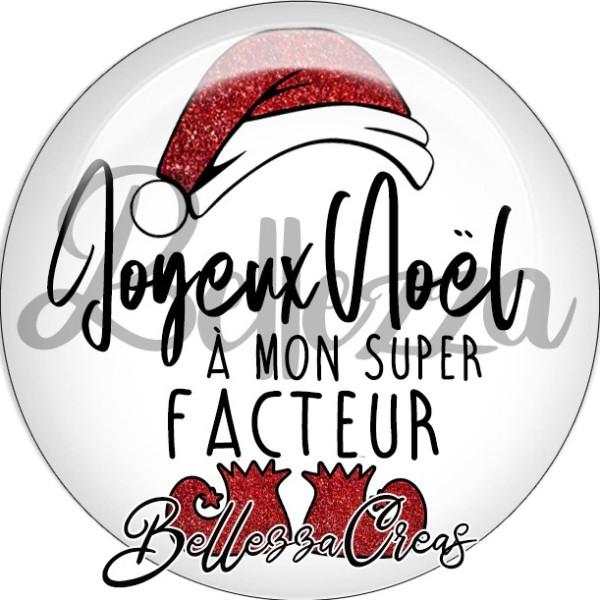 Cabochon, bonnet, joyeux noël à mon super coiffeur,Noël, évènement, plusieurs tailles disponibles - Photo n°2