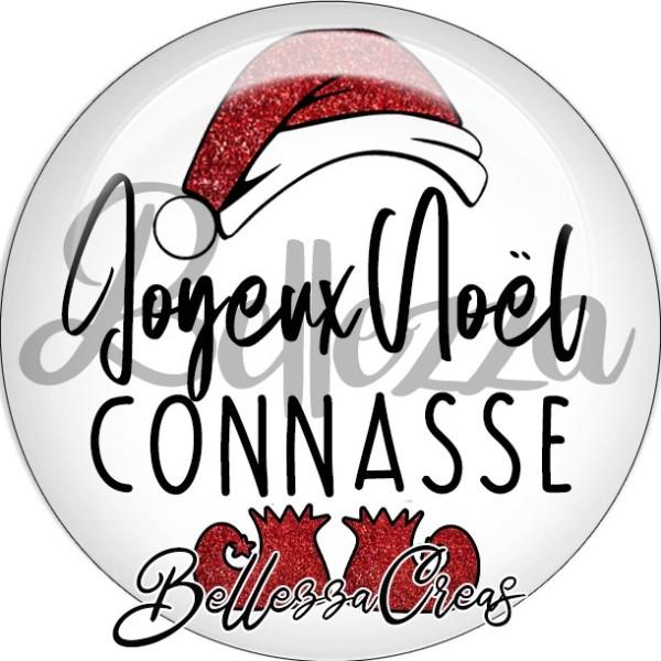 Cabochon, bonnet père noël, joyeux noël connasse,Noël, évènement, plusieurs tailles disponibles - Photo n°1