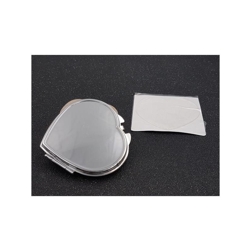 miroir de poche coeur customiser et cabochon autocollant