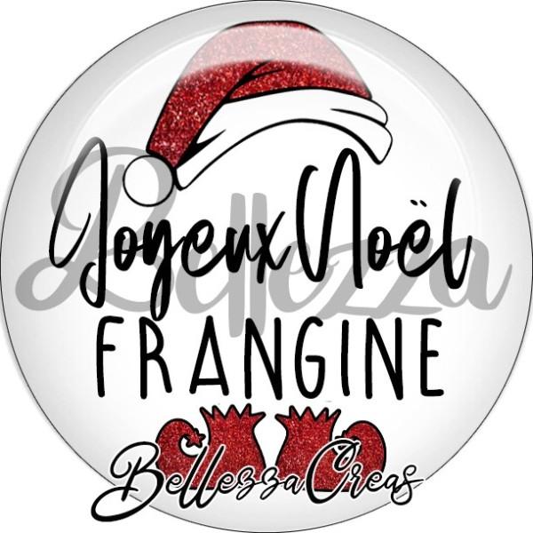 Cabochon, bonnet père noël, joyeux noël frangine,Noël, évènement, plusieurs tailles disponibles - Photo n°1
