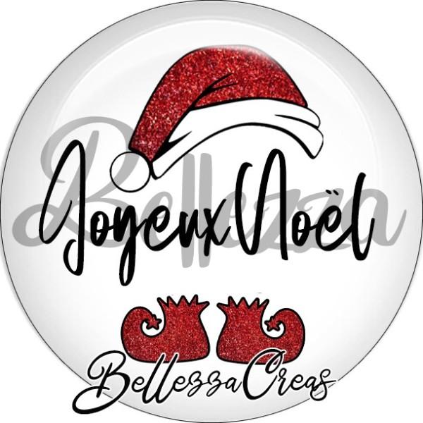 Cabochon, bonnet père noël, joyeux noël,Noël, évènement, plusieurs tailles disponibles - Photo n°1