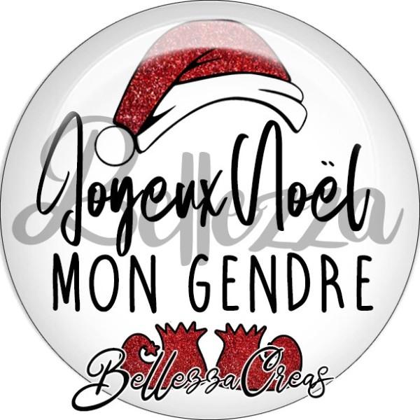 Cabochon, bonnet père noël, joyeux noël mon gendre,Noël, évènement, plusieurs tailles disponibles - Photo n°1