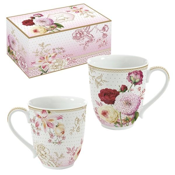 Ensemble de 2 mugs en pocelaine EASY LIFE RENAISSANCE - Photo n°1