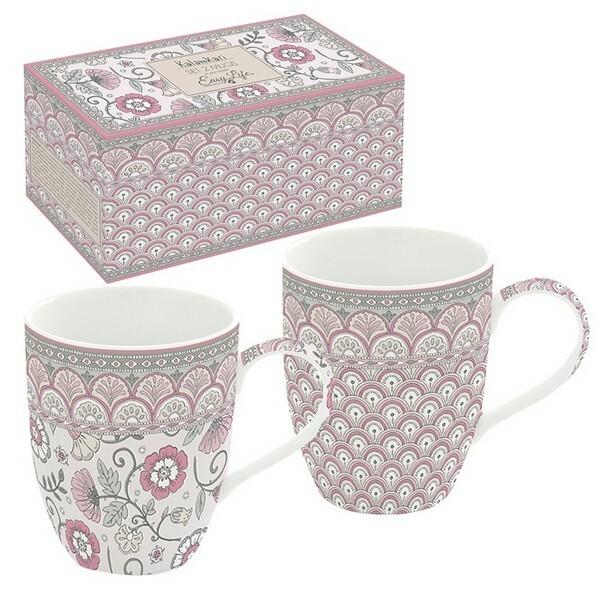 Ensemble de 2 mugs en pocelaine EASY LIFE LES COQUELICOTS - Photo n°1