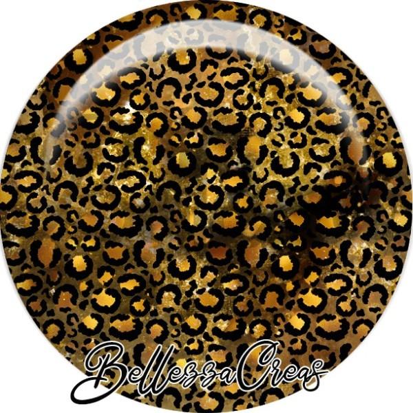 Cabochon, couleurs léopard, automne, plusieurs tailles disponibles - Photo n°1