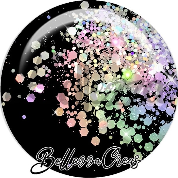 Cabochon, paillettes scintillantes, fashion, glitters, plusieurs tailles disponibles - Photo n°1