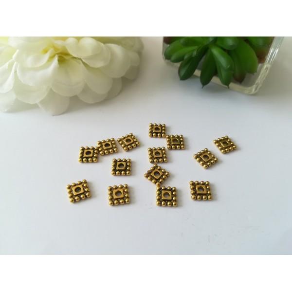 Perles métal intercalaires carré 7 mm dorée x 20 - Photo n°1