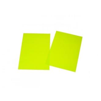 Feuille De Plastique Dingue Couleur Jaune Vert 29x20cm