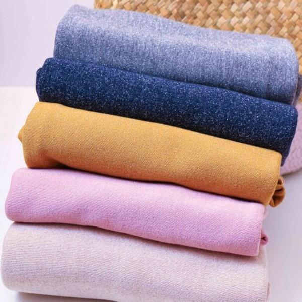 Coupon de tissu Jersey Sweat - Lurex - Rose - 145 x 60 cm - Photo n°4