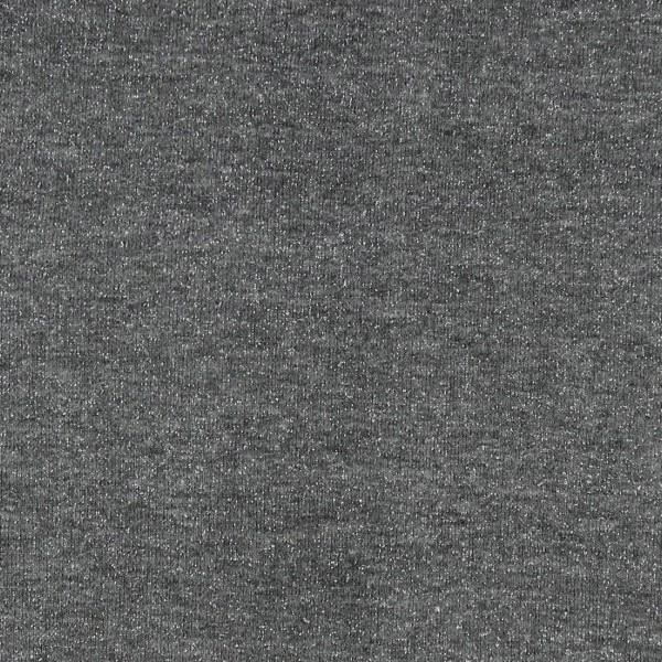 Coupon de tissu Jersey Sweat - Lurex - Gris - 145 x 60 cm - Photo n°2