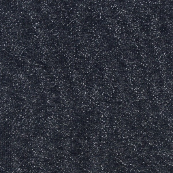 Coupon de tissu Jersey Sweat - Lurex - Bleu marine - 145 x 60 cm - Photo n°2