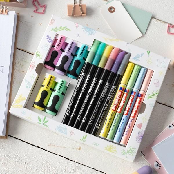 Coffret dessins créatifs Edding - Printemps / Été - 15 pcs - Photo n°4
