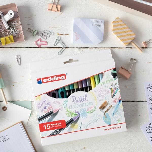Coffret dessins créatifs Edding - Printemps / Été - 15 pcs - Photo n°5