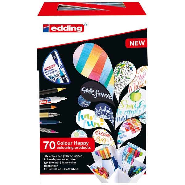 Coffret Colour Happy Edding - 70 pcs - Photo n°1