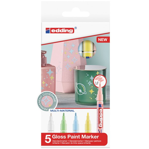 Marqueurs Peinture Edding 751 Pointe Fine - Pastel - 5 pcs - Photo n°1
